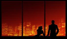 Serie della priorità bassa della finestra. Una coppia royalty illustrazione gratis