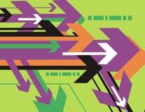 Serie della priorità bassa della freccia illustrazione di stock