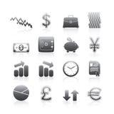 Serie della siluetta delle icone di affari Fotografie Stock Libere da Diritti