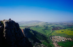 Serie della Terra Santa - Mt Arbel Fotografia Stock