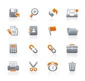 Serie delle icone della grafite di // dell'interfaccia Fotografia Stock