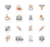 Serie delle icone della grafite di // di cura della brughiera & della medicina Fotografia Stock