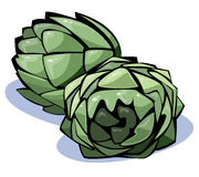 Serie delle verdure: carciofi Fotografia Stock