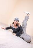 Serie dello studio di hip-hop di dancing della ragazza Immagine Stock