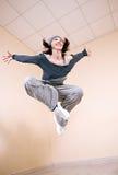 Serie dello studio di hip-hop di dancing della ragazza Fotografia Stock Libera da Diritti