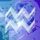 Serie dello zodiaco - Aquarius Immagine Stock Libera da Diritti