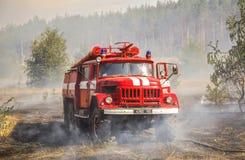 Serie des tirs du feu de forêt images libres de droits