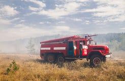Serie des tirs du feu de forêt photographie stock