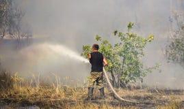 Serie des tirs du feu de forêt photos libres de droits