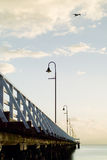 Serie di alba del pilastro di Shorncliffe Fotografia Stock