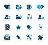 Serie di azzurro di // del blog & del Internet Immagini Stock