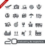 Serie di basi di //delle icone di logistica & di industria Immagini Stock Libere da Diritti