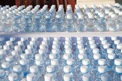 Serie di bottiglie di plastica di acqua Immagini Stock Libere da Diritti