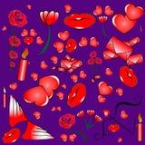 Serie di caratteri al giorno del ` s del biglietto di S. Valentino Fotografie Stock