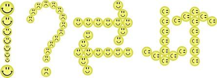 Serie di caratteri dai sorrisi Fotografia Stock