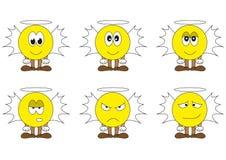 Serie di caratteri degli smilies di angelo Immagini Stock