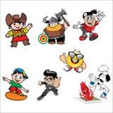 Serie di caratteri del fumetto Fotografia Stock