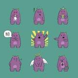Serie di caratteri sveglia del mostro Fotografia Stock