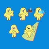 Serie di caratteri sveglia e divertente del cane illustrazione vettoriale
