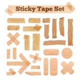 Serie di cassette appiccicosa beige Fotografie Stock Libere da Diritti