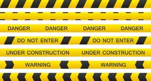 Serie di cassette d'avvertimento Immagini Stock Libere da Diritti