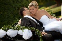 Serie di cerimonia nuziale, carrello Fotografia Stock Libera da Diritti