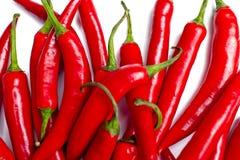 Serie di Chillis rosso Fotografia Stock