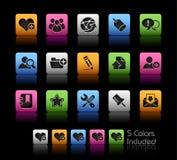 Serie di // Colorbox del blog & del Internet Immagine Stock