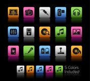 Serie di // Colorbox di intrattenimento & di media royalty illustrazione gratis