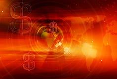Serie di concetto del fondo di affari globali e di finanza grafica illustrazione di stock