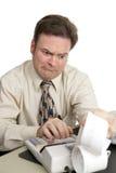 Serie di contabilità - notizie difettose Fotografia Stock