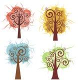 Serie di disegno dell'albero royalty illustrazione gratis