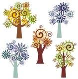 Serie di disegno dell'albero Immagine Stock