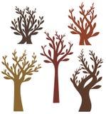Serie di disegno dell'albero Fotografia Stock Libera da Diritti