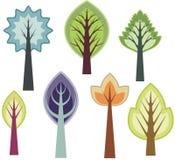Serie di disegno dell'albero Fotografie Stock