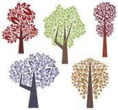 Serie di disegno dell'albero Immagini Stock Libere da Diritti