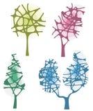 Serie di disegno dell'albero Fotografia Stock