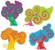 Serie di disegno dell'albero Immagine Stock Libera da Diritti