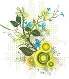 Serie di disegno floreale illustrazione vettoriale
