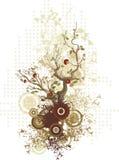 Serie di disegno floreale Fotografie Stock