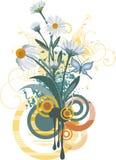 Serie di disegno floreale Immagini Stock Libere da Diritti
