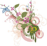 Serie di disegno floreale Fotografia Stock