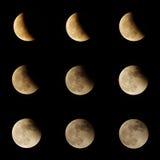 Serie di eclissi lunare Fotografia Stock