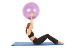 Serie di esercitazione di Pilates Immagini Stock