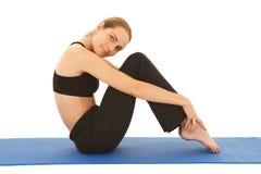 Serie di esercitazione di Pilates Fotografie Stock