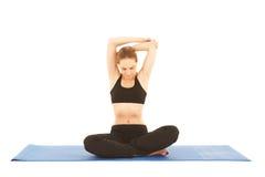 Serie di esercitazione di Pilates Immagine Stock Libera da Diritti
