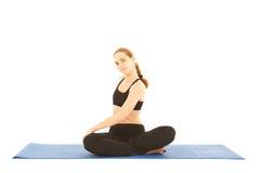 Serie di esercitazione di Pilates Immagine Stock