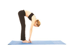 Serie di esercitazione di Pilates Fotografia Stock