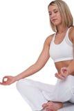 Serie di forma fisica - bella donna nella posizione di yoga Fotografie Stock