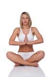 Serie di forma fisica - donna bionda nella posizione di yoga Immagine Stock Libera da Diritti